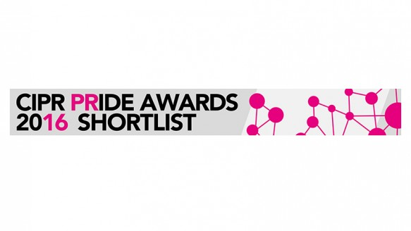 Shortlisted, Chartered Institute of Public Relations Pride Awards 2016